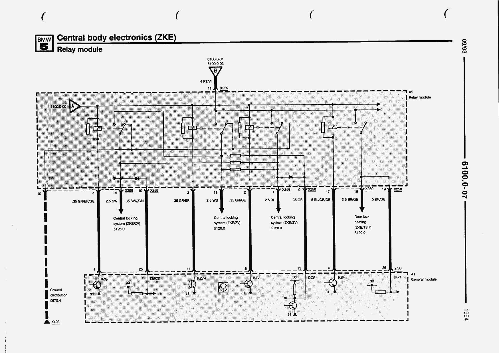 Electrical troubleshooting manual (5 Series - E34 (518i, 520i, 525td